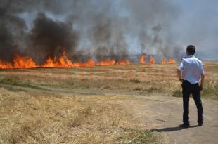 Incendiu de proporţii într-o fermă de la marginea Devei