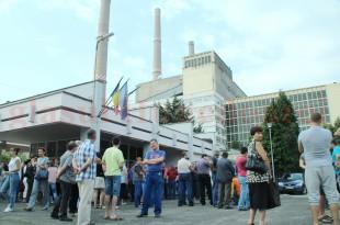 Protest la Termocentrala Mintia. Salariații CEH riscă să piardă 20% din salariu