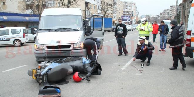 Accident în cartierul Progresul: un mopedist a fost lovit de o autoutilitară