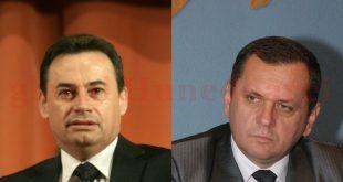 Gheorghe Falcă (stânga) atrage atenţia asupra problemei salariilor primarilor, în timp ce Mircea Rovinar (dreapta) o punctează şi pe cea a pensiilor.