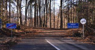 MAIN Locul in care se termina drumul facut de CJ Hunedoara si din care este asteptat sa puna asfalt CJ Caras Severin