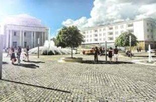 Cam aşa s-ar dori să arate esplanada Casei de Cultură din Hunedoara, peste cel mult un an.