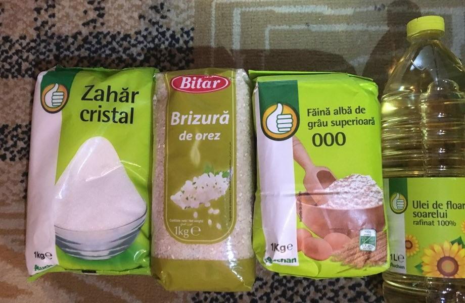 Acestea sunt produsele oferite de Ioan Fodor. Poliția cercetează infracțiunea de corupție electorală, omul spune că a dat pomană