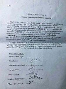 Consilierii PNL au vrut ca un membru al partidului lor să fie şef peste transportul local din Hunedoara