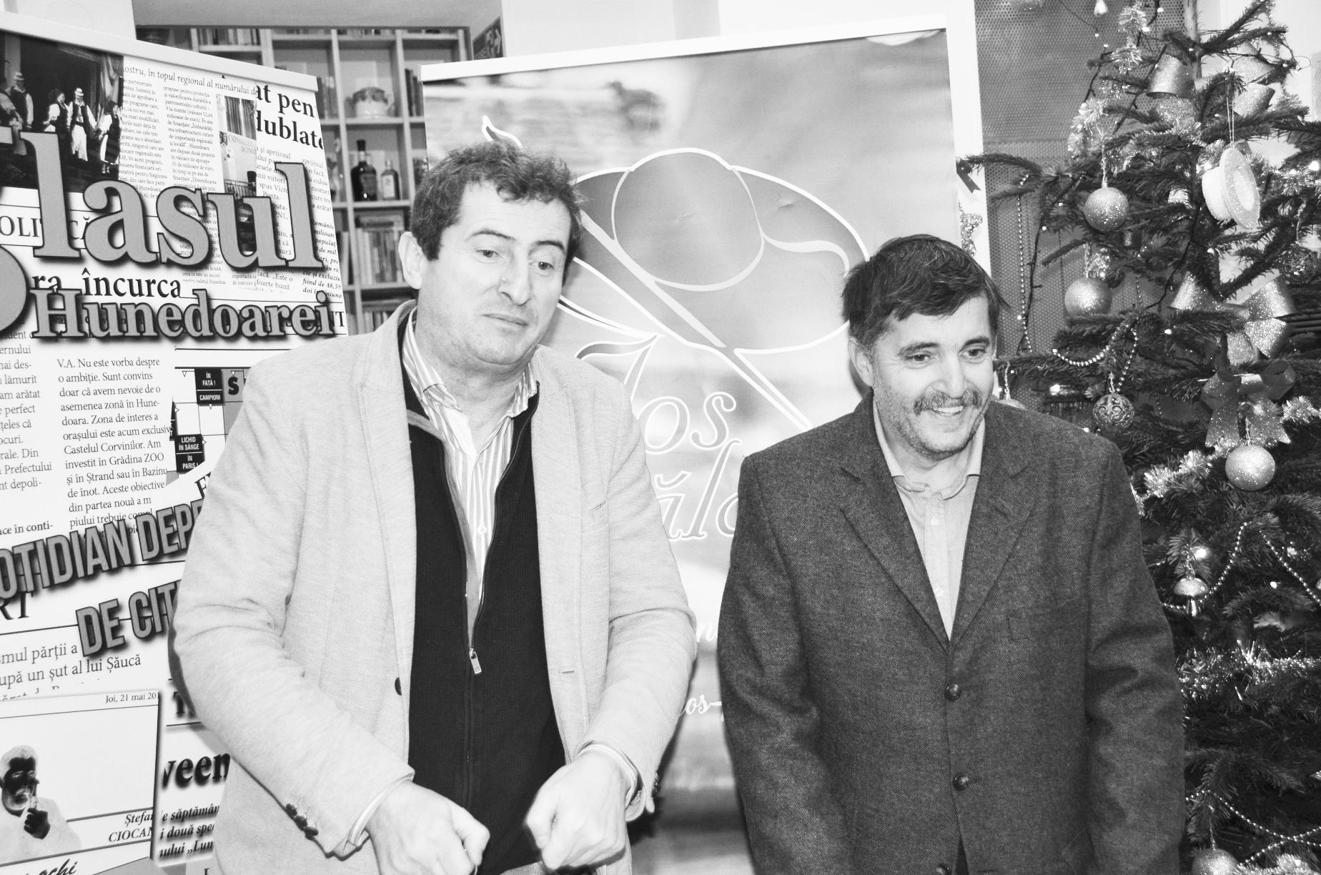Decembrie 2017, lansare de carte Grigore Cartianu, cu Ştefan în rol de amfitrion