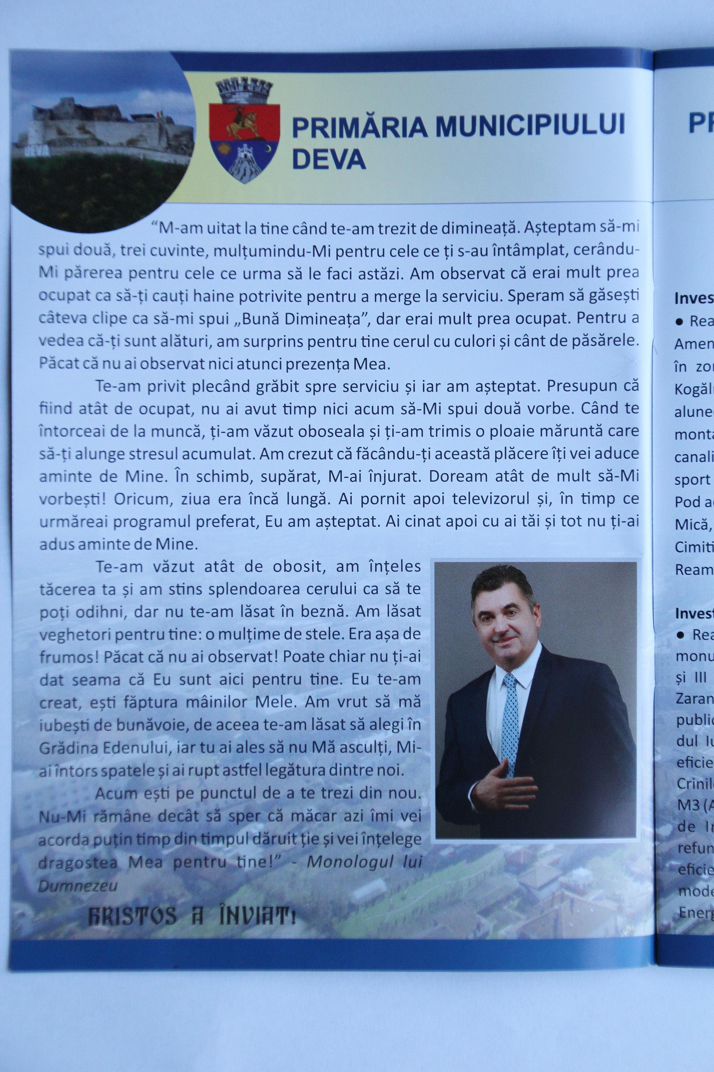 """Photo of Petru Mărginean, """"Dumnezeu"""" pe bani publici"""