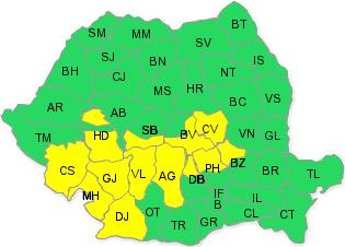 Photo of Cod galben de ploi însemnate cantitativ, în județul Hunedoara