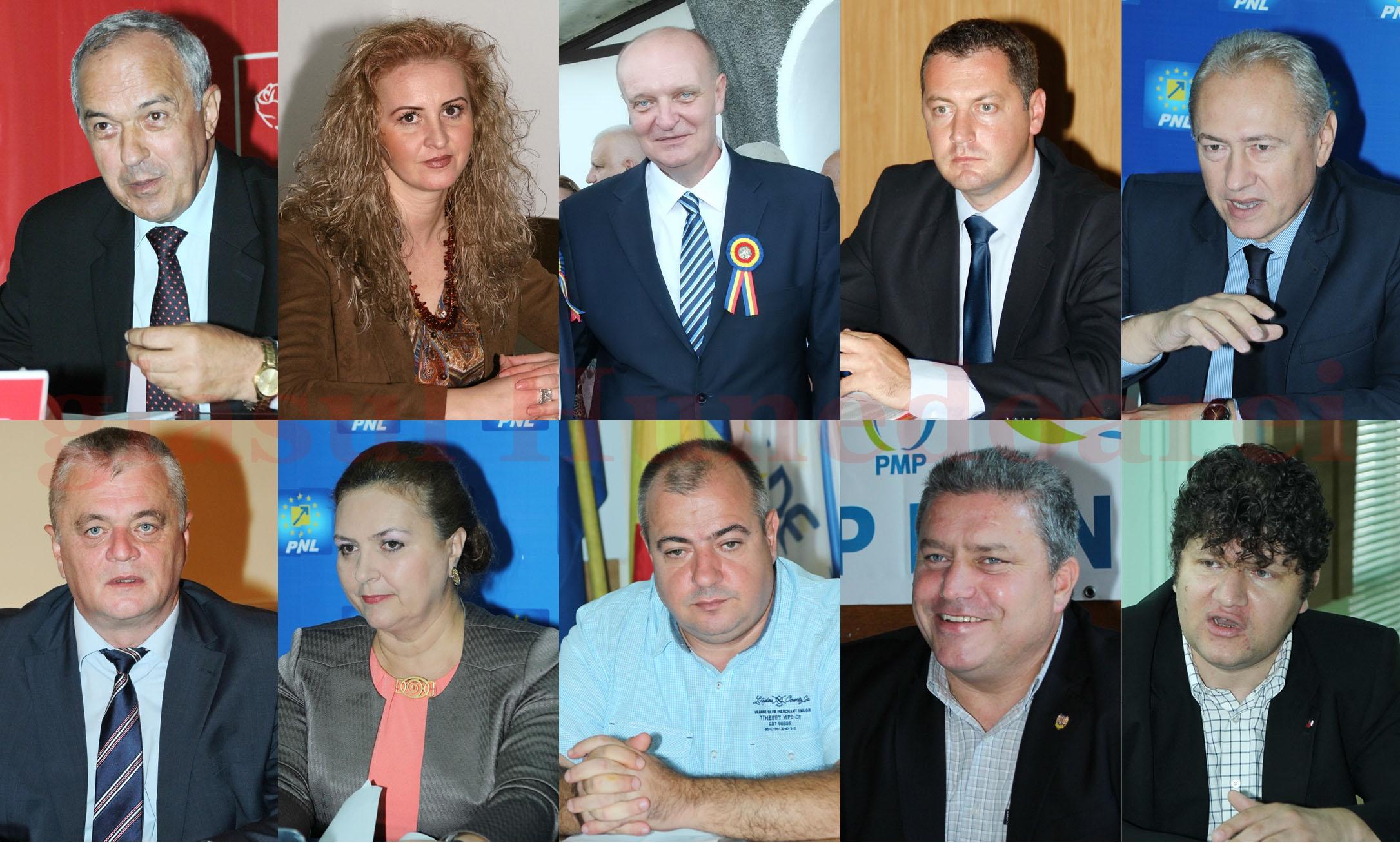 De la stânga la dreapta / Rândul de sus: Laurențiu Nistor – PSD, Natalia Intotero – PSD, Ilie Toma – PSD, Cristian Resmeriță – PSD, Lucian Heiuș – PNL De la stânga la dreapta / Rândul de jos: Dorin Gligor – PNL, Carmen Hărău – PNL, Marius Surgent – ALDE, Haralambie Vochițoiu – PMP, Lorincz Szell - UDMR