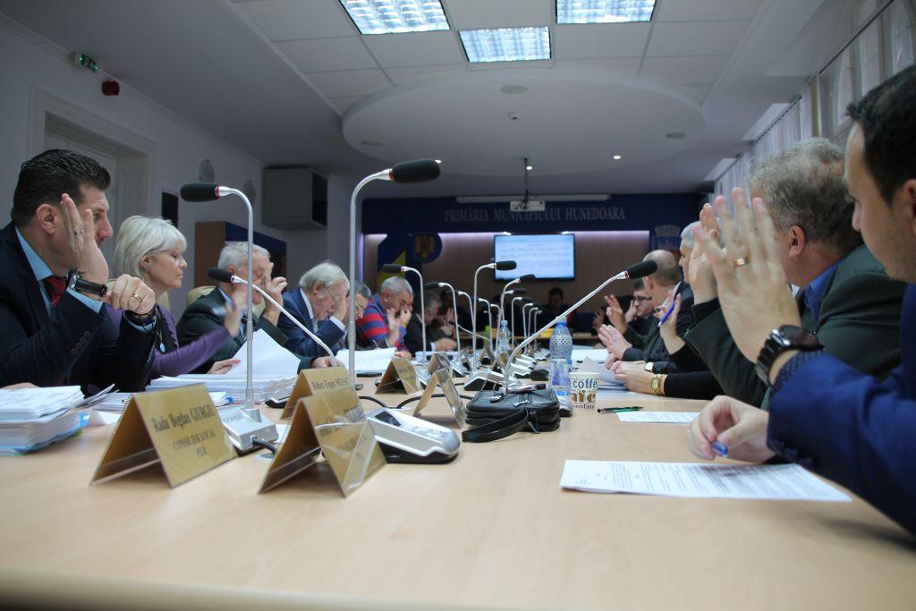 """După ce au dezbătut mai bine de o oră, timp în care s-au avansat chiar şi idei de genul """"Nu ne vindem ţara"""", 19 dintre cei 21 de consilieri locali ai Hunedoarei au votat în favoarea scoaterii la licitaţie a unei suprafeţe de 80.000 de metri pătraţi pentru o viitoare unitate industrială."""