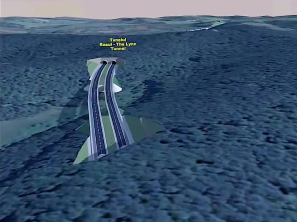 În timp ce alţii reuşesc să construiască autostrăzi şi tuneluri în zone muntoase în doar 3 – 4 ani, autostrada Lugoj – Deva se împiedică de aproape un deceniu în dealurile de la limita judeţelor Timiş şi Hunedoara (reprezentare grafică - Asociaţia Pro Infrastructură)