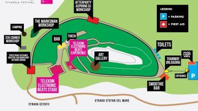 Harta punctelor importante ale Citadela Festival – prima ediţie