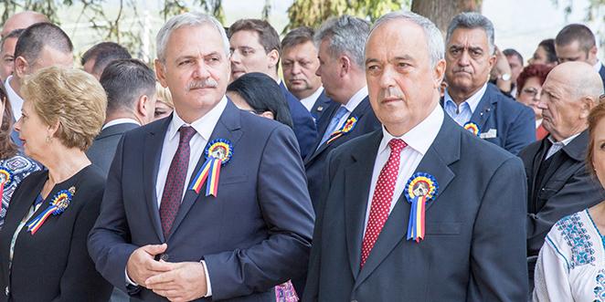 Laurenţiu Nistor (în dreapta imaginii) s-a numărat tot timpul printre susţinătorii declaraţi ai lui Liviu Dragnea