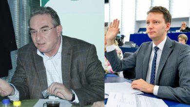 Iuliu Winkler (stânga) şi Siegfried Mureşan sunt candidaţi cerţi la europarlamentarele din 26 mai