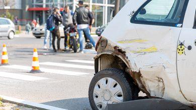 4 aprilie 2019. Accident rutier în centrul Devei, în jurul orei 15.00, într-o intersecție în care se lucra la marcajele rutiere