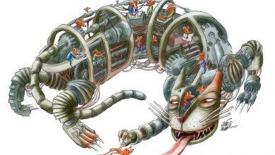 Sistemul pisică-şoarece descris de Oguz Demir (Turcia) (toate lucrările jurizate le puteţi vedea pe site-ul www.bestcartoons.net)