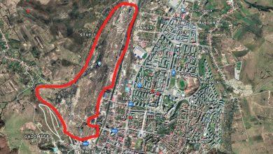 Privită de sus, suprafaţa Ecosid-ului dă impresia că ocupă aproape un sfert din suprafaţa totală a oraşului Hunedoara (imagine obţinută prin serviciul google maps)