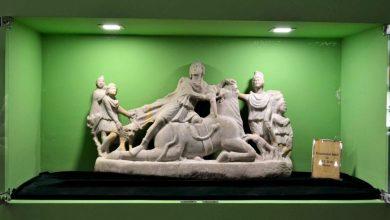 Photo of Relief din marmură descoperit la Ulpia Traiana Sarmizegetusa, expus la Muzeul din Deva