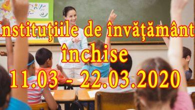 Photo of BREAKING NEWS. OFICIAL. Toate școlile din România vor fi închise începând de miercuri până pe 22 martie, cu posibilitatea de prelungire a măsurii