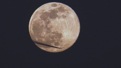 Photo of O luna si un avion. Aseara! – fotografia zilei