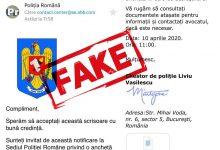 Photo of Dacă primiți email de la Poliția Română în care sunteți invitați la sediul Poliției, nu îl deschideți!