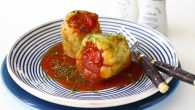 Photo of Ardei umpluți cu carne de pui în sos de roșii