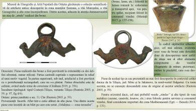 Photo of Muzeul Civilizației Dacice și Romane din Deva prezintă astăzi, on-line, un alt artefact aflat în patrimoniul Muzeului de Etnografie și Artă Populară Orăștie