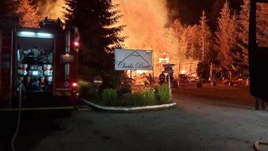 Photo of (Galerie foto)Cea mai veche cabană din zona de vest a Văii Jiului a ars în această noapte.