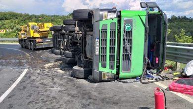 Photo of Circulație îngreunată, pe DN 76, Deva – Brad, din cauza unui autotren răsturnat