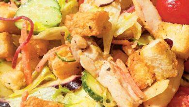 Photo of Salată de pui cu crutoane și sos de muștar