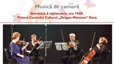 Photo of Muzică de cameră în faţa Centrului Cultural din Deva – duminică, 6 septembrie 2020