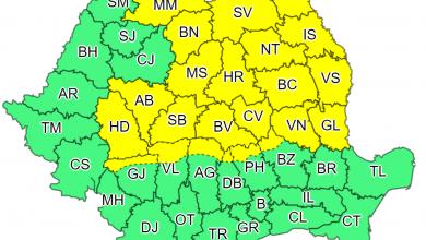 Photo of Atenționare Meteorologică COD GALBEN ploi județul Hunedoara