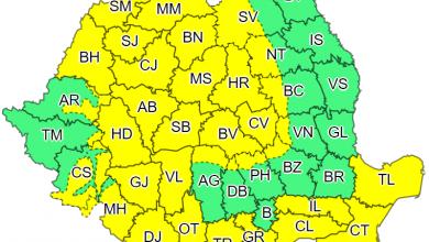 Photo of Atenționare meteorologică COD GALBEN pentru județul Hunedoara de intensificări ale vântului
