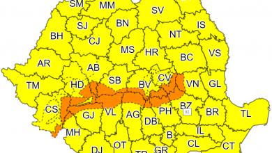 Photo of România intră sub cod GALBEN de răcire accentuată. În partea de sud a județului Hunedoara se instaurează cod PORTOCALIU de intensificări susținute ale vântului, temporar viscol și vizibilitate redusă